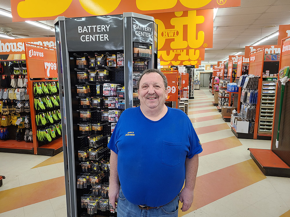 Greg Beckner is the manager of Jerry's Do it Center.