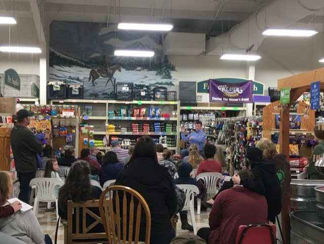 A stock show success seminar was held recently in the store for local 4-H students.