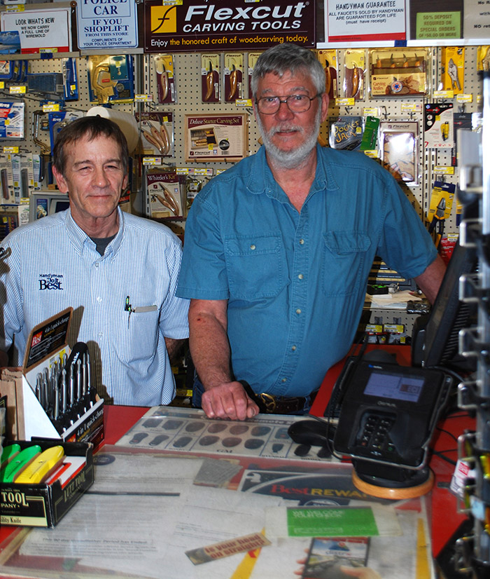 Mike Norton (left) has been a valued employee for more than 25 years, working alongside Owner Rick Heuser (right).
