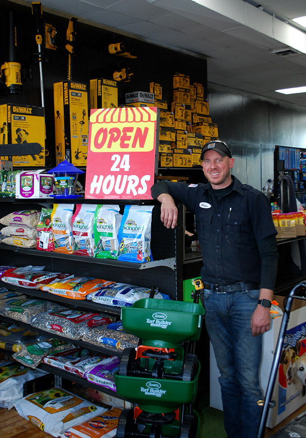 Adam Taylor just opened his third Trust Hardware store that is open 24/7.