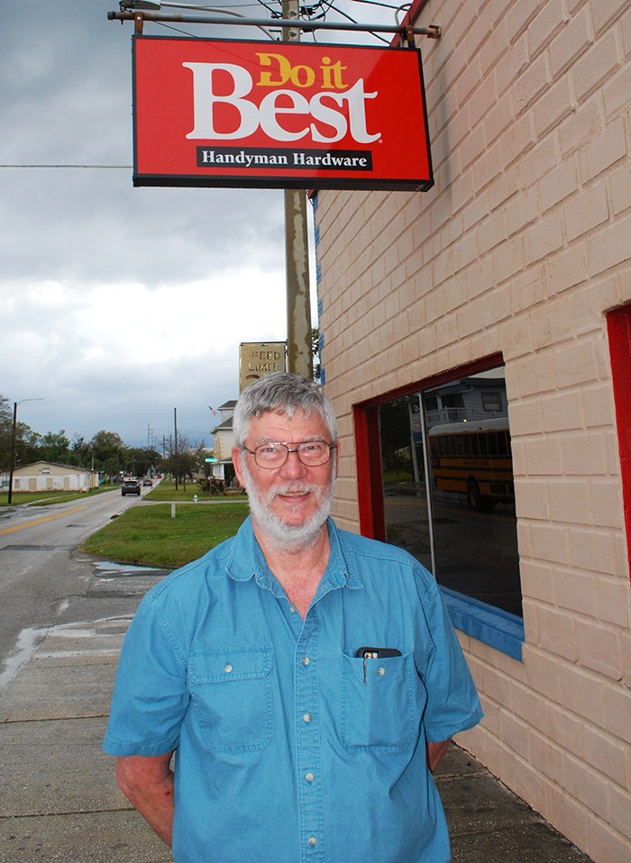 Rick Heuser, owner of Handyman Hardware in St. Cloud, Fla., is an active supporter of the downtown business district.