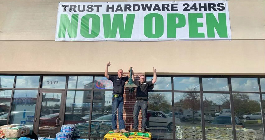 Adam Taylor and Director of Operations Kevin Bates (right) were excited to open the second store last October.