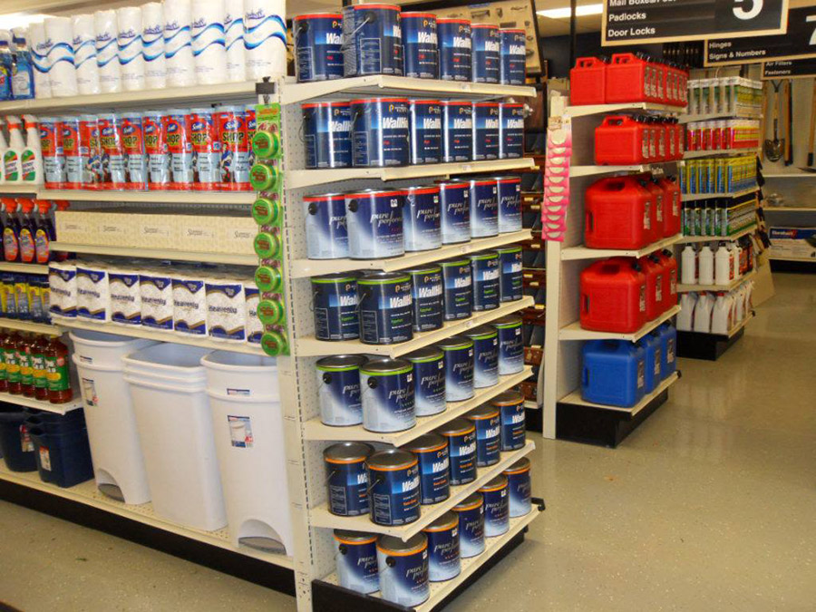 Since Trust Hardware stores are open 24/7, they carry non-traditional categories like detergent and toilet paper in addition to core hardware.