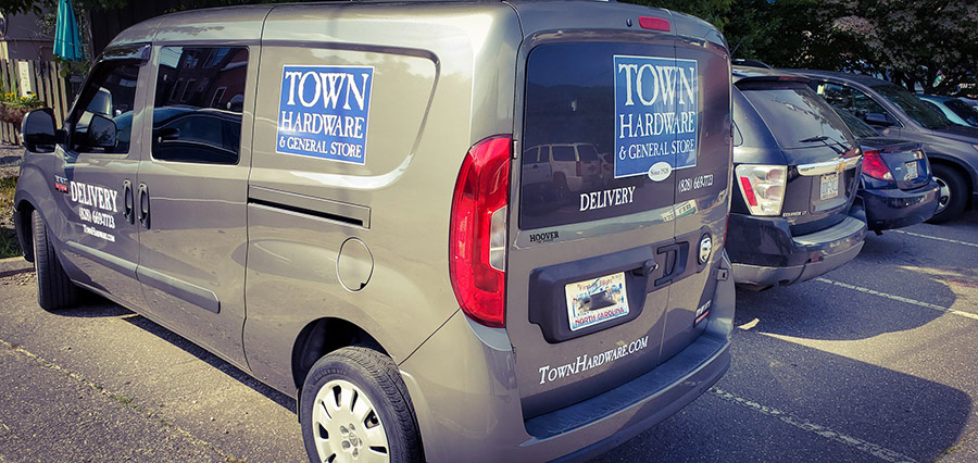 Town Hardware & General Store in Black Mountain, N.C., offers free delivery within 5 miles to Do it Best Rewards members.