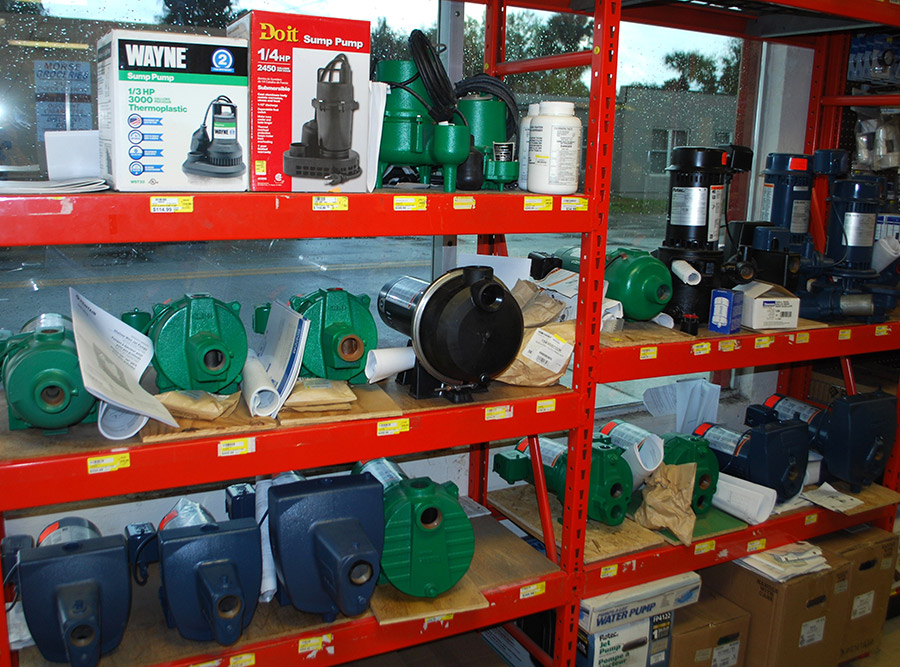 Handyman Hardware does a big business in pumps.