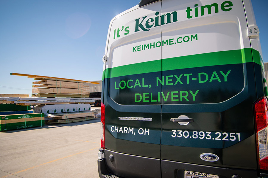 Keim in Charm, Ohio, has a local express delivery catalog and offers free next-day delivery.