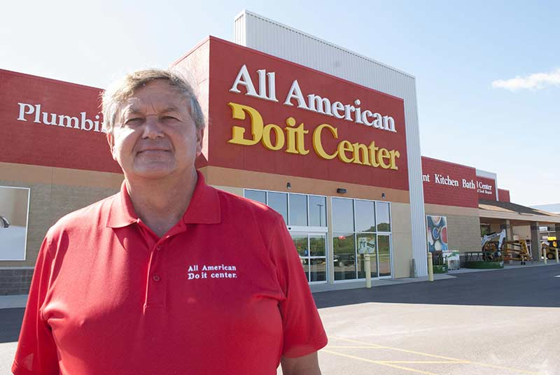 Brian Buswell, owner of All American Do it Center, has found success going into smaller markets that are underserved by home centers.
