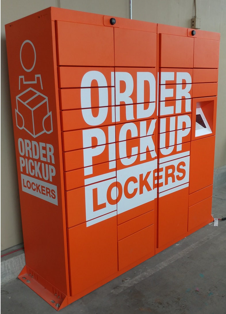 Home Depot online customers can retrieve orders in as little as two hours at pickup lockers in many of its stores.