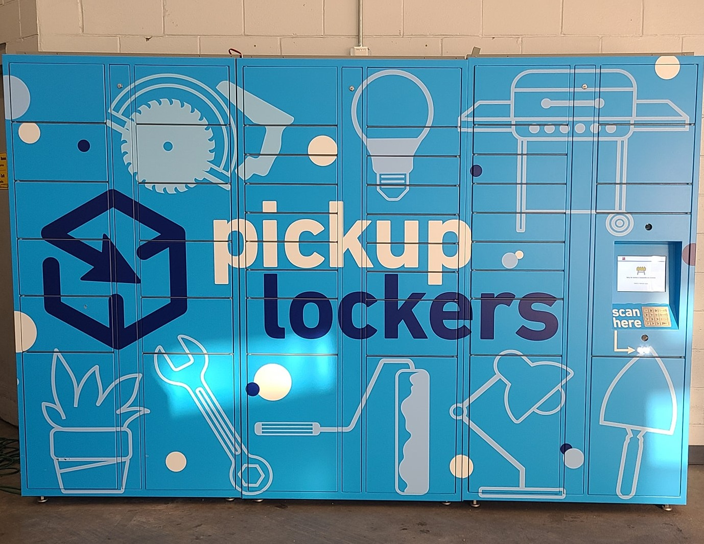 Lowe's began rolling out contactless pickup lockers last year.