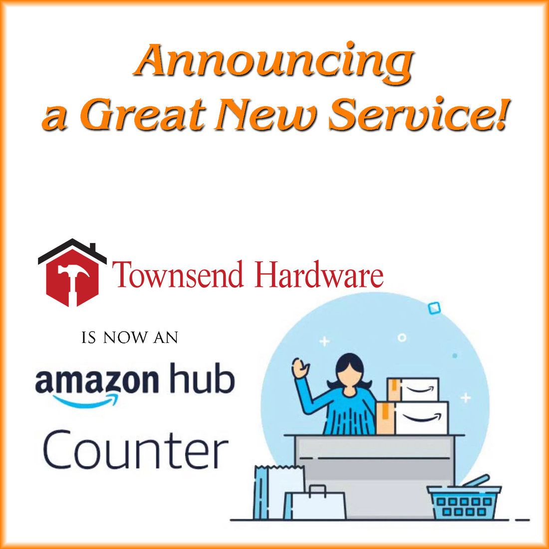 Townsend Hardware in Montana posted this on Facebook to promote its location as an Amazon Hub Counter.