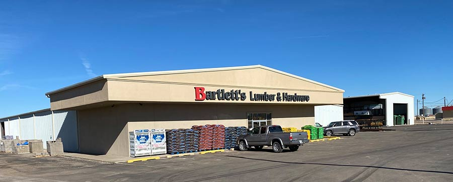 Bartlett's Lumber & Hardware includes 10 locations across the Texas Panhandle.