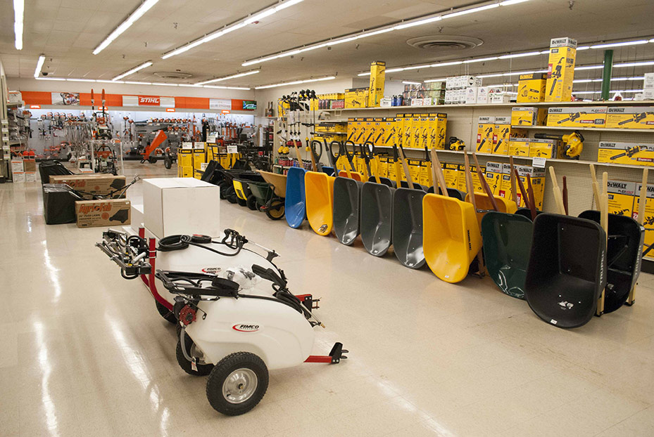 Footwear, power tools and power equipment are the three largest categories.