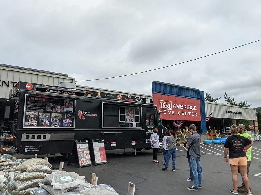 Regular visits from food trucks help boost store traffic.