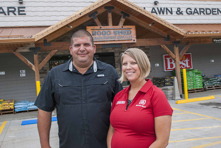 Cecil and Sharona Eiserer rebuilt their town's lumberyard to provide a well-stocked, well-merchandised store for the community.