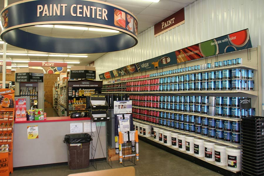 Paint is a top-selling category for Bartlett's 10 stores, which attract more DIY than pro sales.