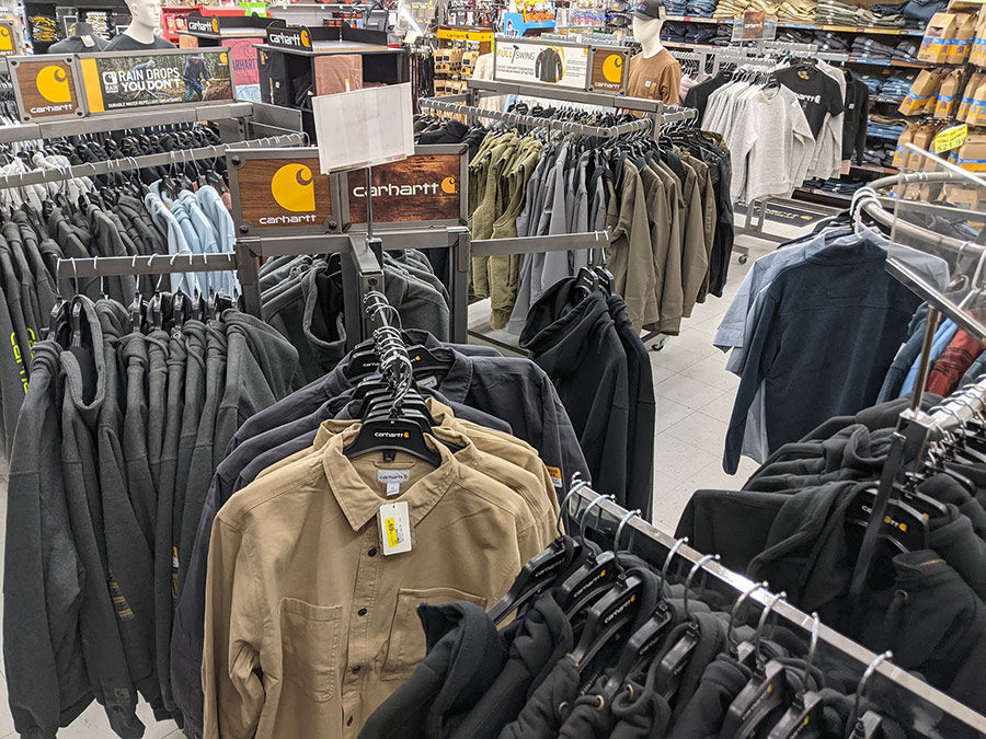 The store features lots of niche categories such as workwear and Pittsburgh sports team merchandise.